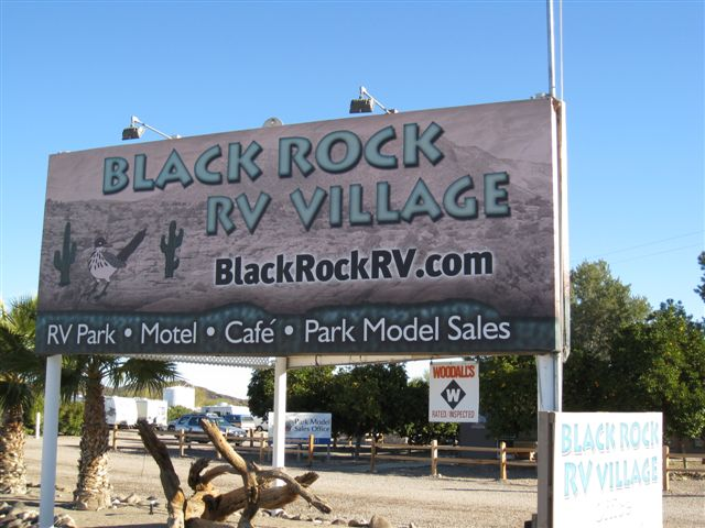 Black Rock RV Village - Entry