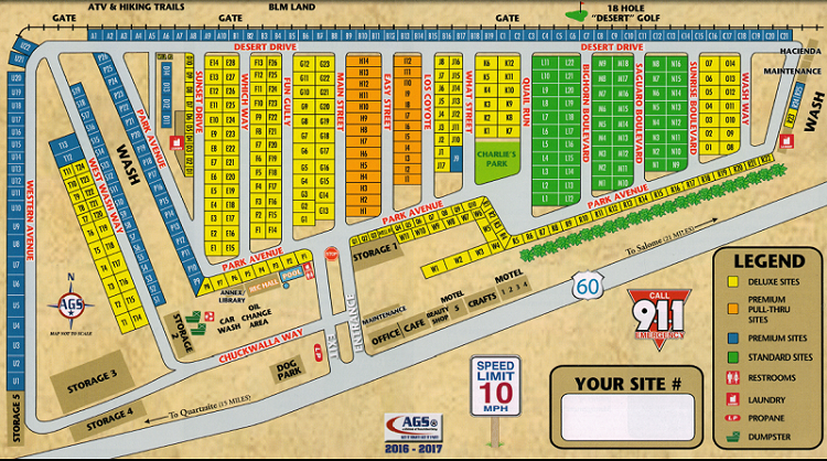 Black Rock RV Village Facilities Map