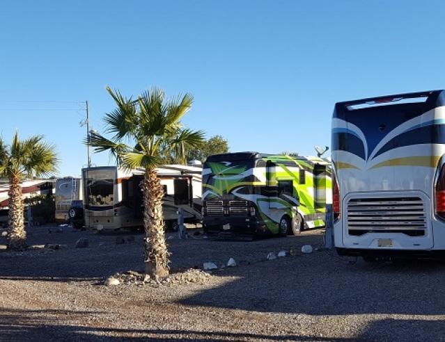 Motorhome Pull Through at Black Rock RV Park AZ