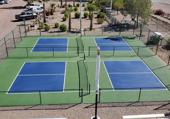 Catch up on Pickleball at the top RV Park in West AZ