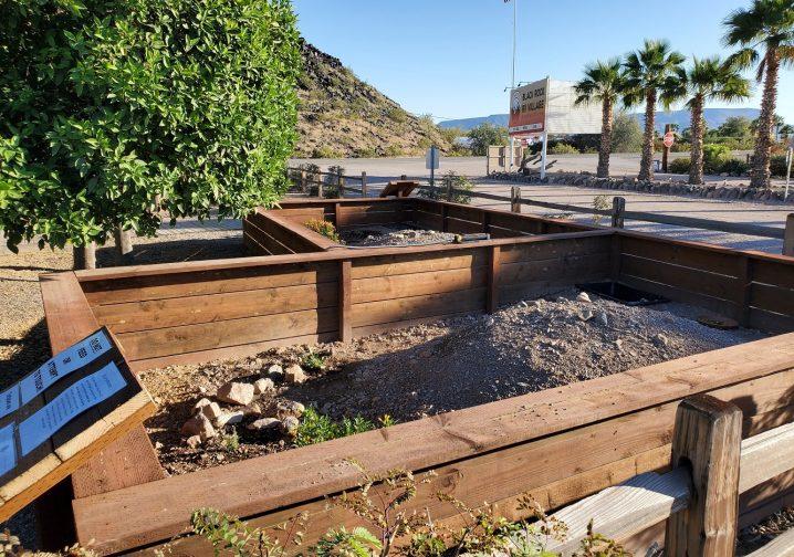 Desert Tortoise enclosure at Black Rock RV Park AZ
