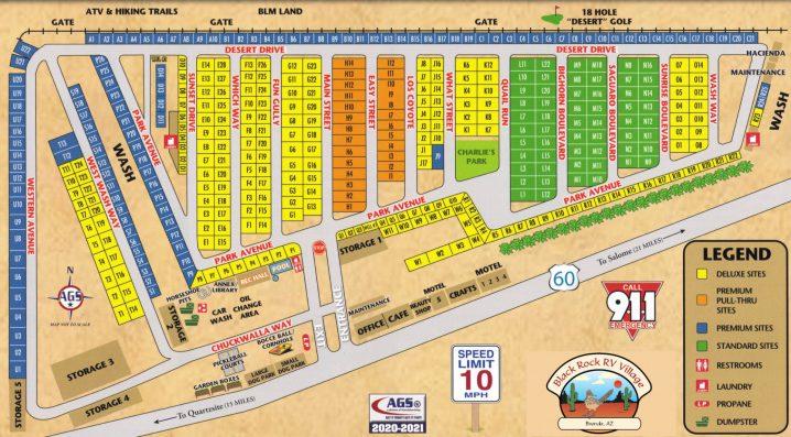 Black Rock RV Village - Facilities Map